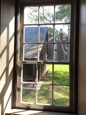 Zoar, OH: Looking outside from within.