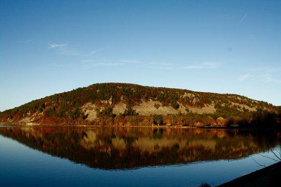 Baraboo, WI: Devil's Lake in Autumn