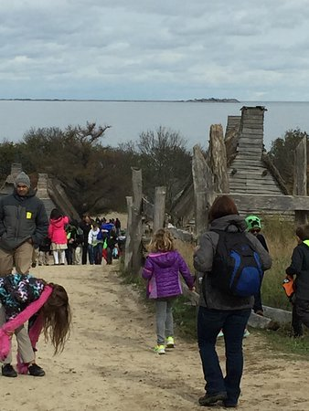Plimoth Plantation: Walking included uneven ground and hilly area