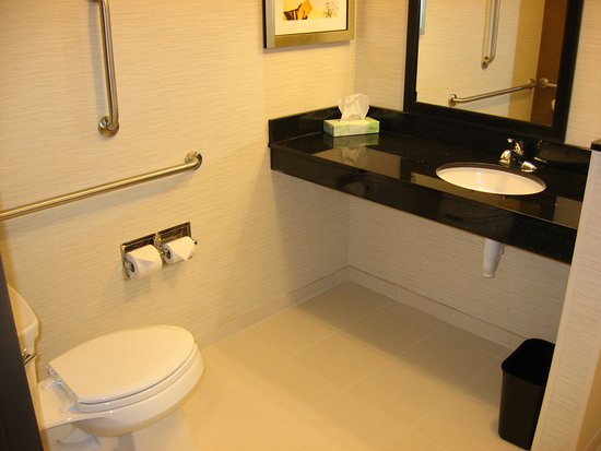 Fairfield Inn & Suites Mankato: Accessible bathroom