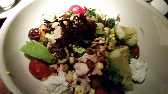 The Macho salad with dates and almonds with champagne mustard dressing was off the charts!