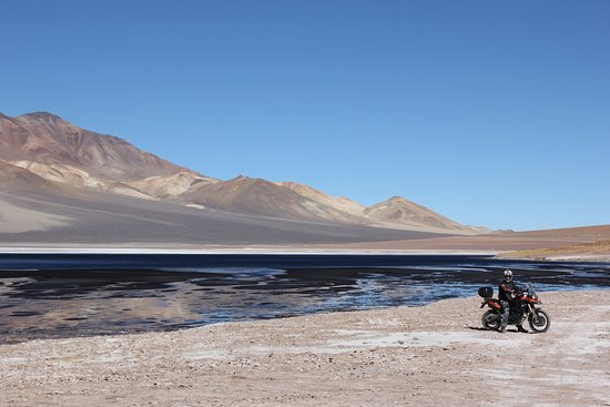 Melton, Australia: Salt lake in the high Andes. Great riding area.