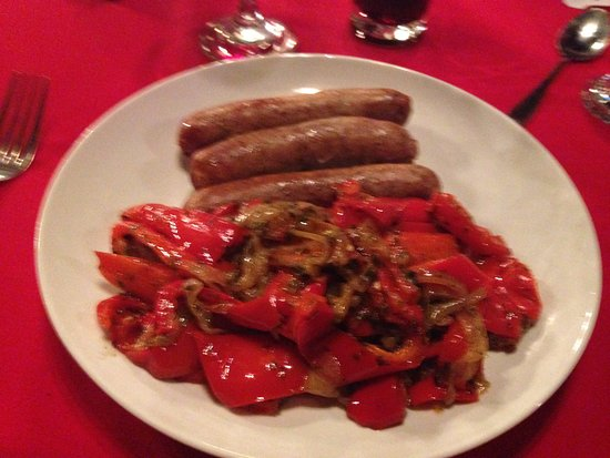Trail, Canada: Italian Sausages w/grilled veggies