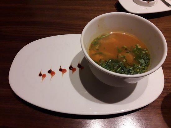 haaochi coriander sea food soup