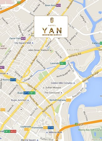 Hotel YAN Map Picture of Hotel YAN Singapore TripAdvisor
