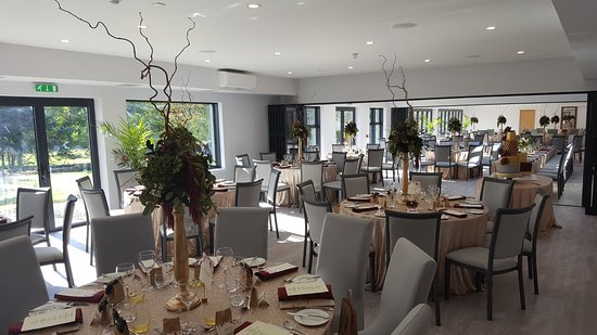 Taynuilt, UK: Another view of the three room Dining Function suite opened for a Wedding.