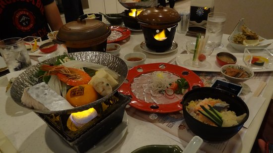 Suooshima-cho, Japan: Japanese set dinner