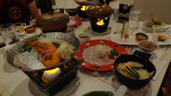 Suooshima-cho, Japonia: Japanese set dinner