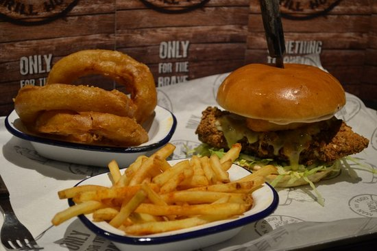 man vs food grill house burger