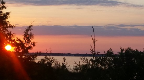 Mackinaw Mill Creek Campground: The view right out our front door of the campsite!  Amazing!
