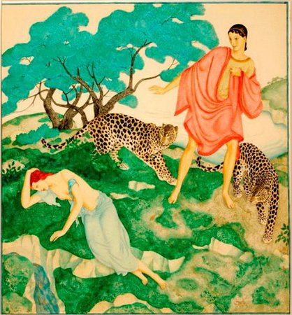 Stanley & Audrey Burton Gallery: Ariadne and Bacchus, by Edmund Dulac (1882-1953)