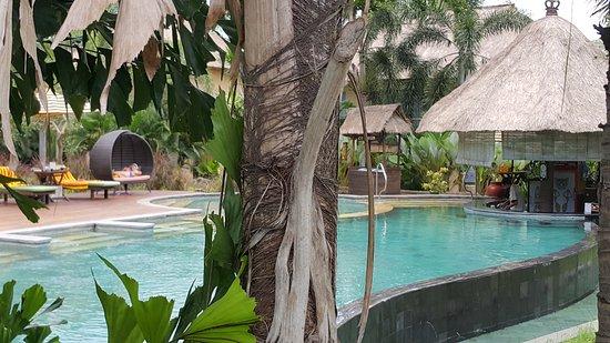 Mara River Safari Lodge: tout est très propre, on vous prête les serviettes, petit et grand bassin