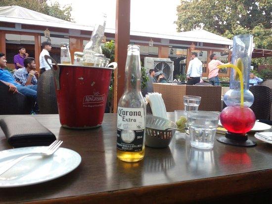 corona cafe lucknow