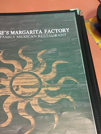 Jorge's Margarita Factory : Nice food menu selection