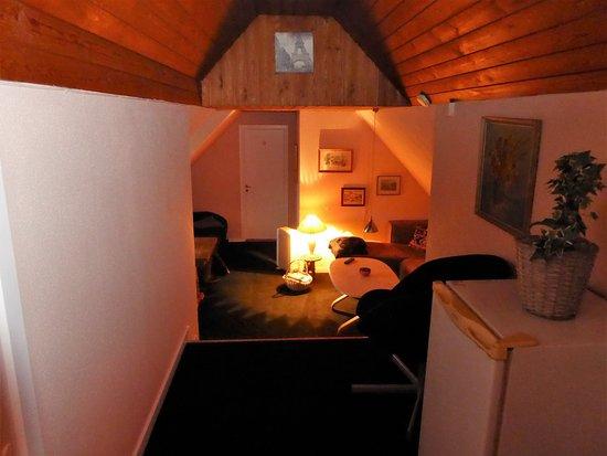 Bogoe, Danemark : Fælles rum, eller stue for værelse 9 incl. TV