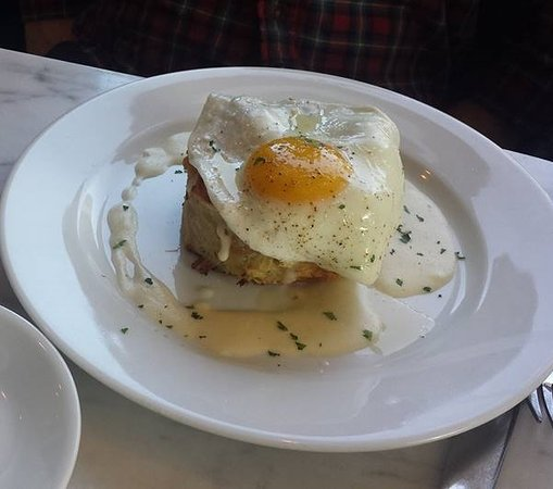 Cudahy, WI: Savory bread pudding with egg.