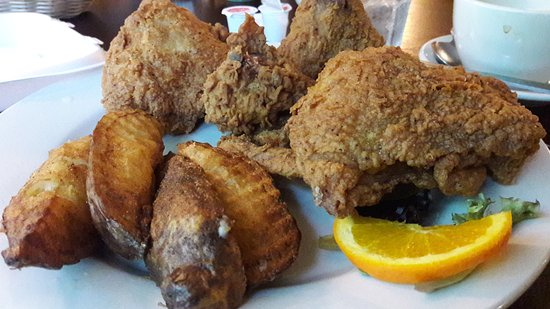 Majerle's Black River Grill : My Broasted Chicken and Broasted Potatoes