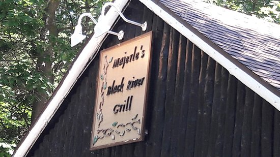 Majerle's Black River Grill: The sign above...