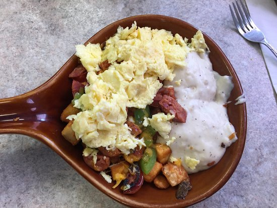 Central Point, OR: Chorizo skillet , it was awesome