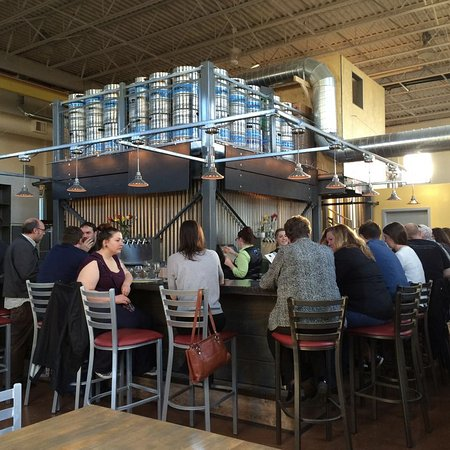Somerville, MA: 25 seat bar area for taster flights, pints, lunch and dinner