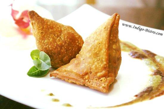 Indigo Indian Bistro: Veg App : Vegetable Samosa (Dairy-Free, Vegan)