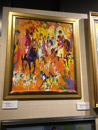 Kentucky Derby Museum: Leroy Nieman painting for sale in the auction house
