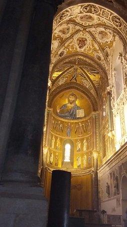 Duomo di Cefalu : foto abside e volta del duomo