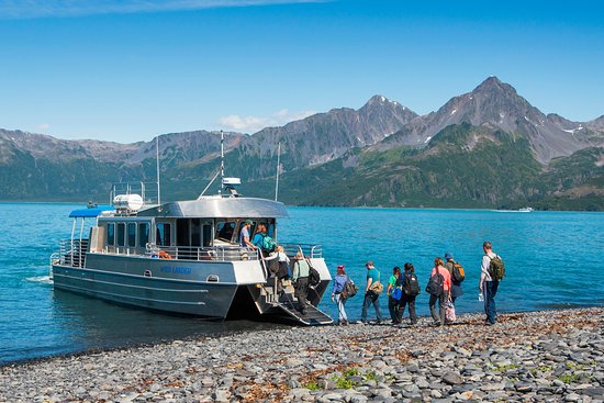 Kenai Fjords National Park, AK: Access to the lodge is accomplished by small boat, operated by the lodge.