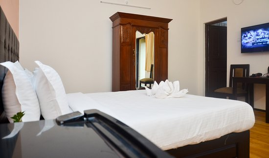 Anjuna, Indien: Classic bed room