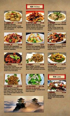 white fox restaurant dinner menu page 4