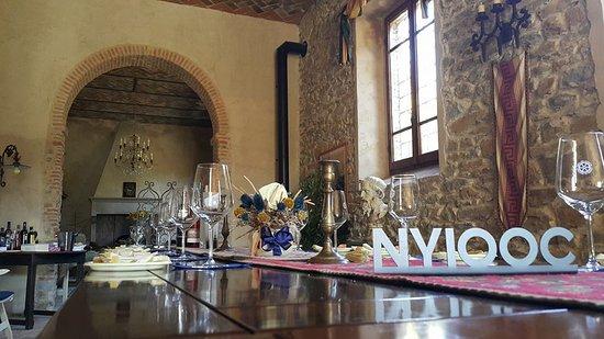 Villa La Ripa: wine tasting room