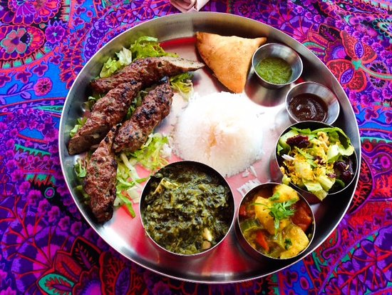 Lunch Platter Lamb Kebab Indian Food San Diego Picture Of