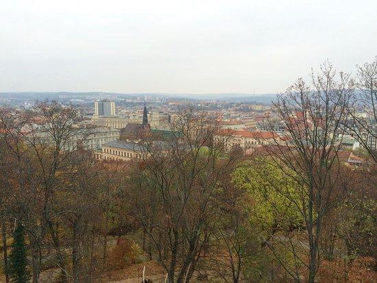 Brno, Republika Czeska: výhled cestou na Špilberk
