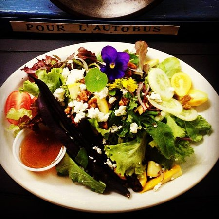 Saturna Island, Canada: Saturna Salad with everything Local!