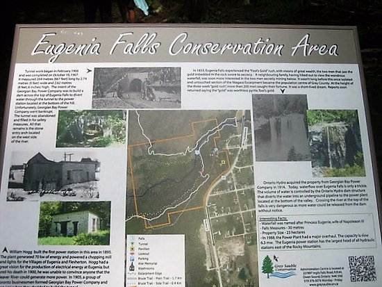 Eugenia Falls Conservation Area: Signage