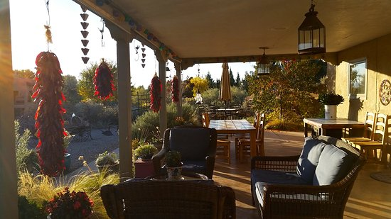 Chocolate Turtle Bed and Breakfast: chili ristras, a favorite scene in NM