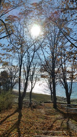 Hart, MI: View of Lake Michigan from the Summit Township park on Lakeshore Drive