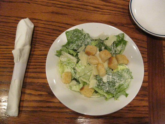Caesar salad is tasty at Red Lobster in Barrie, Ontario.