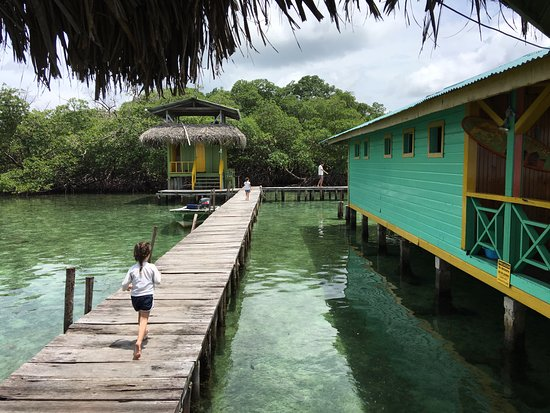 Al Natural Resort: The restaurant on stilts, a short boat ride away