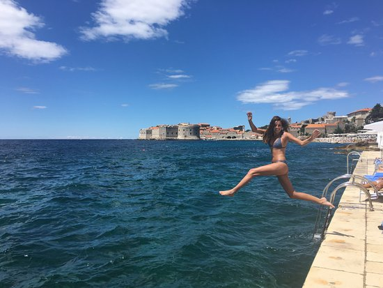 Hotel Excelsior Dubrovnik: Swimming in the Adriatic