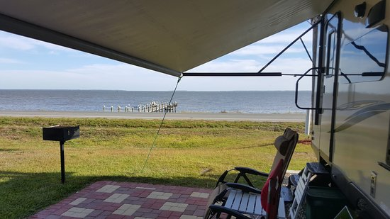 Eastpoint, FL: Nice relaxing view of St George Sound from site #5