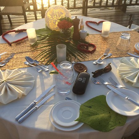 Cap Estate, Saint Lucia: our special dinner table