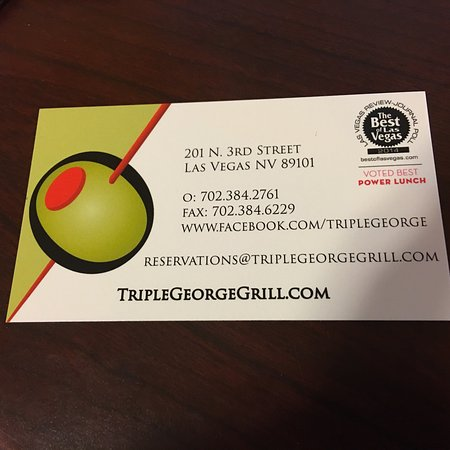 Lunch with my bride to be at Triple George Grill