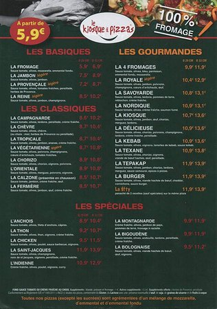 เฮนเนอบอนท์, ฝรั่งเศส: menu