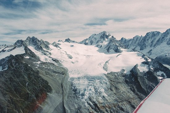 Metz-Tessy, France: A birds eye view of some of Europe's most spectacular glaciers!