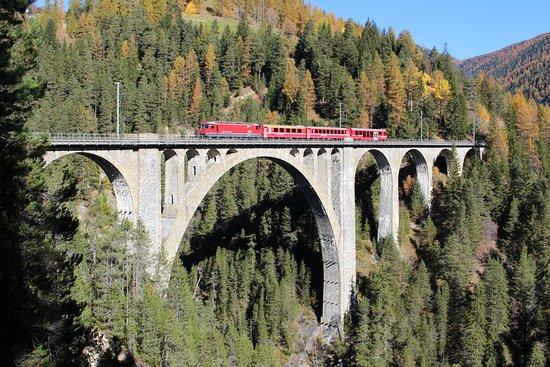 Wiesen Viadukt mit Zug