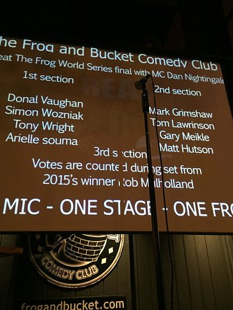 The Frog and Bucket Comedy Club: Beat The Frog - World Series Finalists