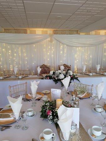 Kilrea, UK: The beautiful room set up for wedding.