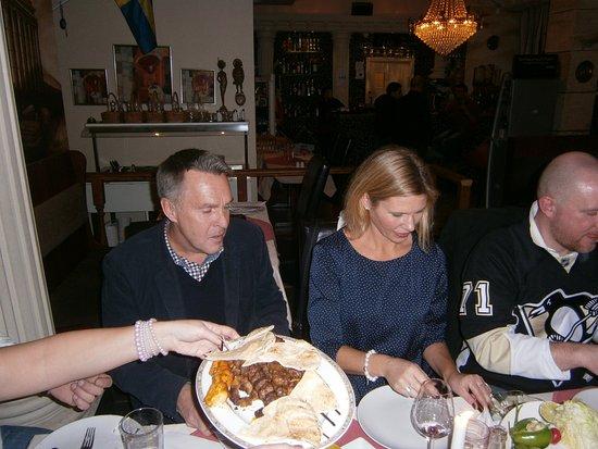 Gävle, Swedia: Middag på restaurangen.