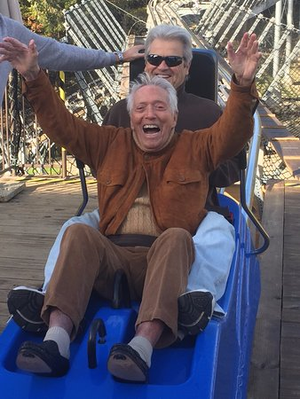 Branson, MO: Don Williams (Andy Williams' Brother) enjoying the mountain coaster.